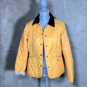 Barbour Yellow Quilted Liberty Art Fabrics Jacket
